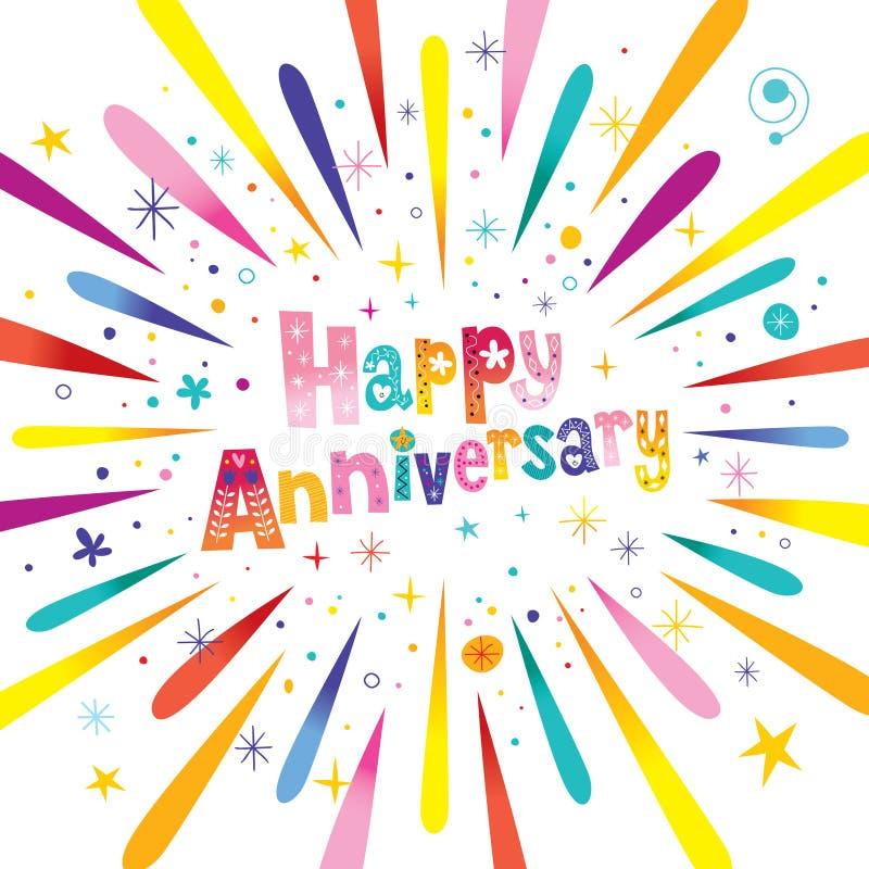 Free Happy Anniversary Greeting Card Royalty Free Stock Photo - 91591475