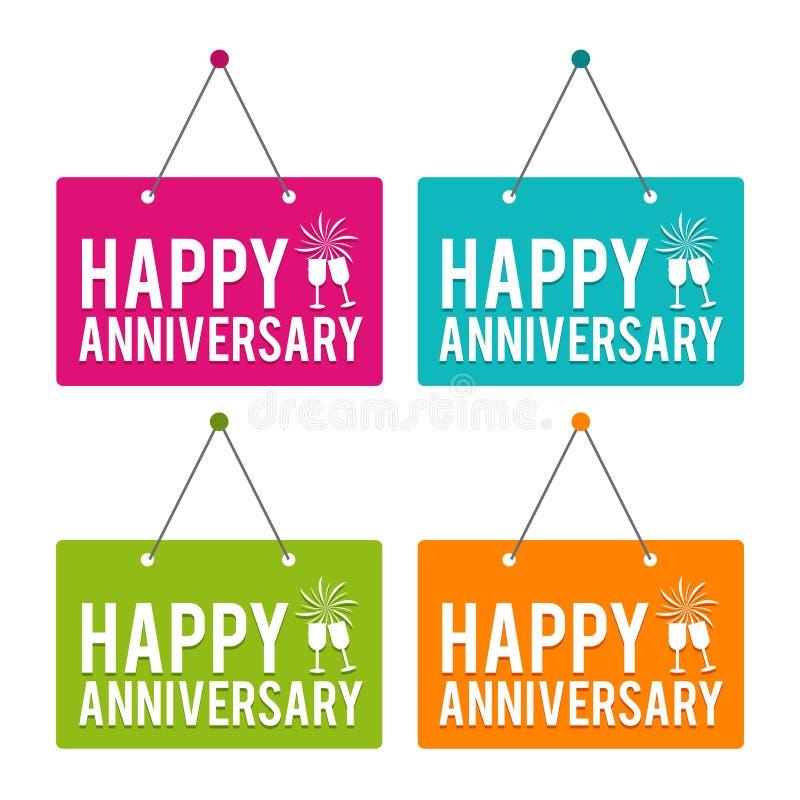 Happy Anniversary hanging Door Sign. Eps10 Vector. Happy Anniversary hanging Door Sign. Eps10 Vector illustration vector illustration