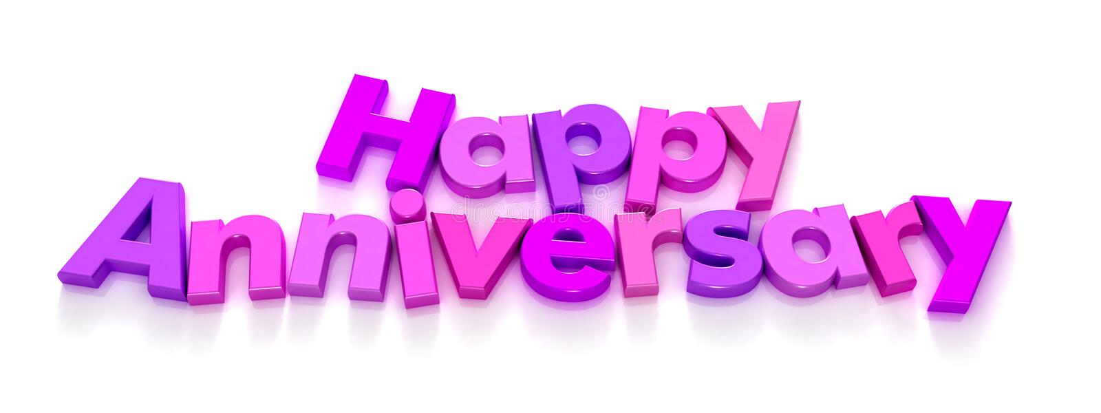 Download Happy Anniversary In Purple And Pink Letter Magnet Stock Image - Image: 4424423