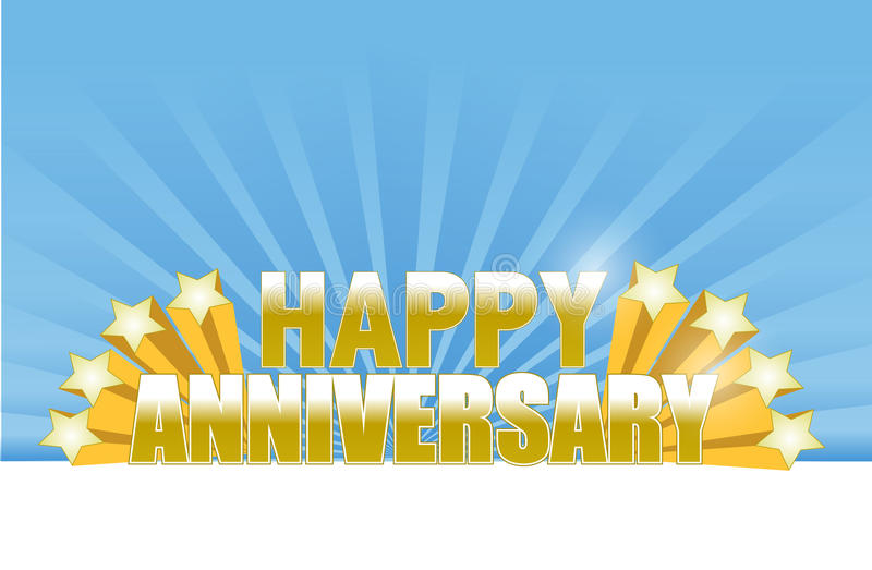 happy anniversary stars card. stock photography
