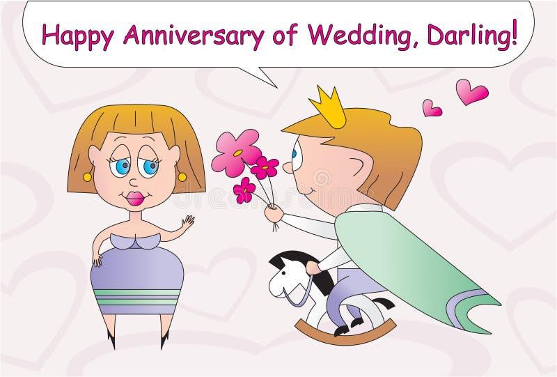 Download Happy Anniversary Of Wedding Stock Vector - Image: 7830892