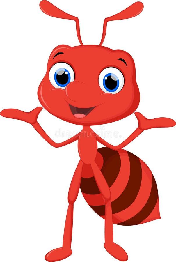 Happy ant cartoon royalty free illustration