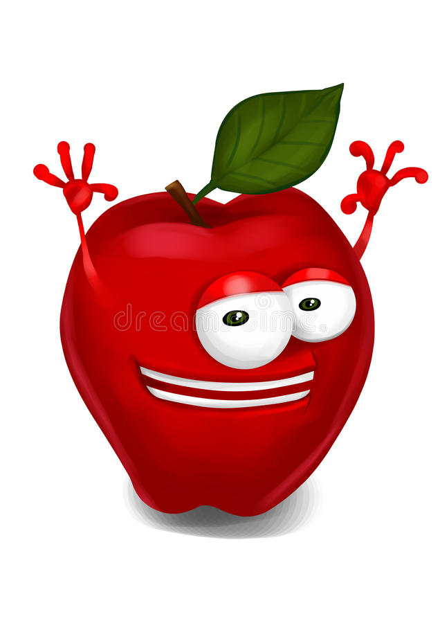 Happy apple royalty free illustration