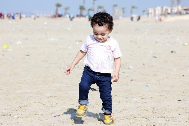 Happy arab baby girl stock photography