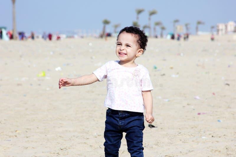 Happy arab baby girl royalty free stock image