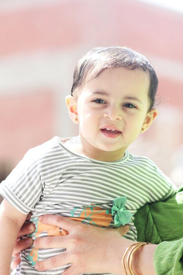 Happy arab muslim baby girl royalty free stock photos