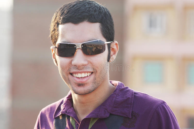 Happy arab young egyptian businessman stock images