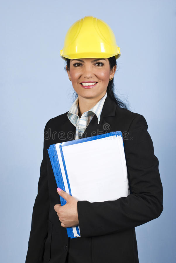 Download Happy architect woman stock photo. Image of people, businesswoman - 11021070