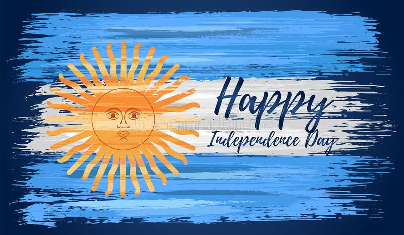 Happy Argentina Independence Day 9th Of July Stock