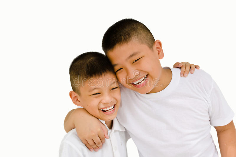 Happy asian brother royalty free stock photography