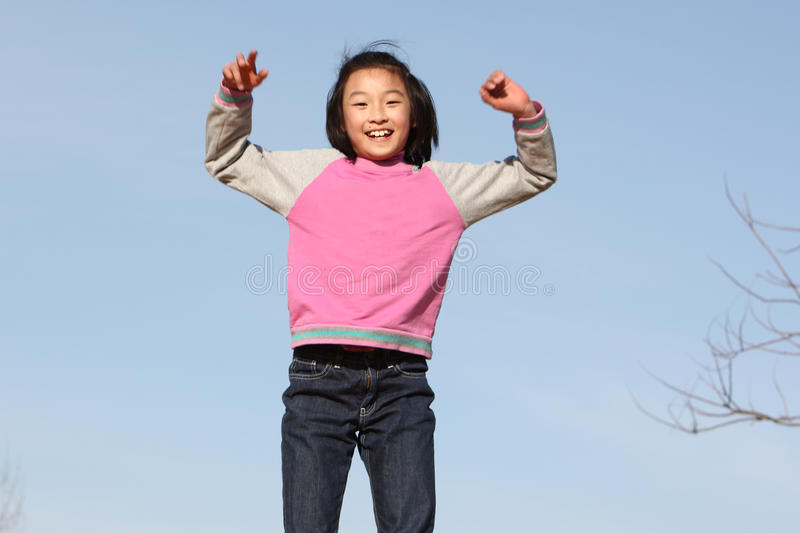 Happy asian child stock images