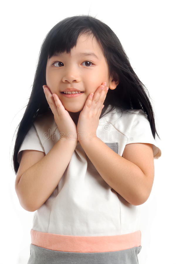 Happy asian child royalty free stock photo