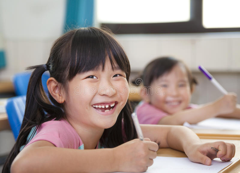 Happy asian children stock photography