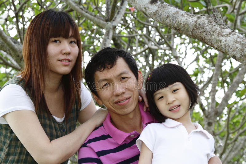 Happy Asian Family. Portrait of a happy Asian family stock images