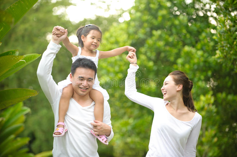 Happy Asian Family royalty free stock photo