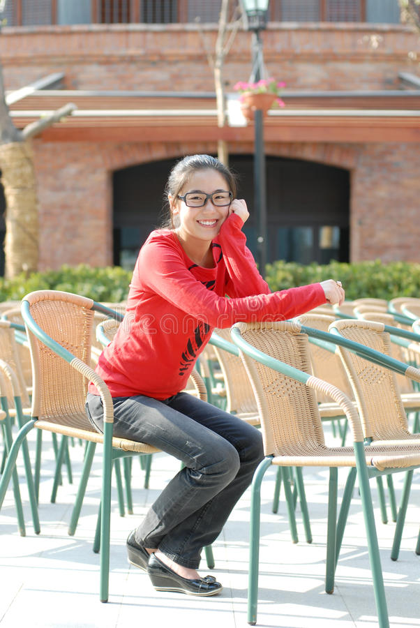 Happy asian girl royalty free stock photo