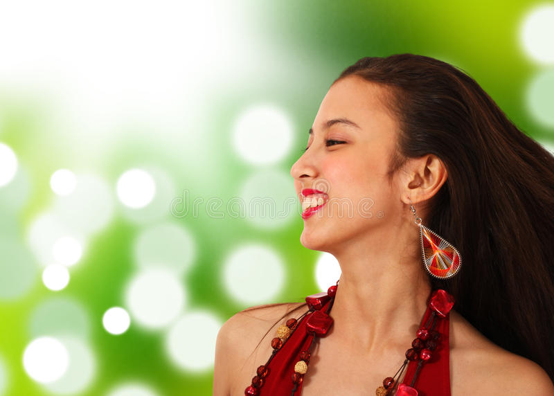 Download Happy Asian Girl In The Countryside Stock Photo - Image: 19652612