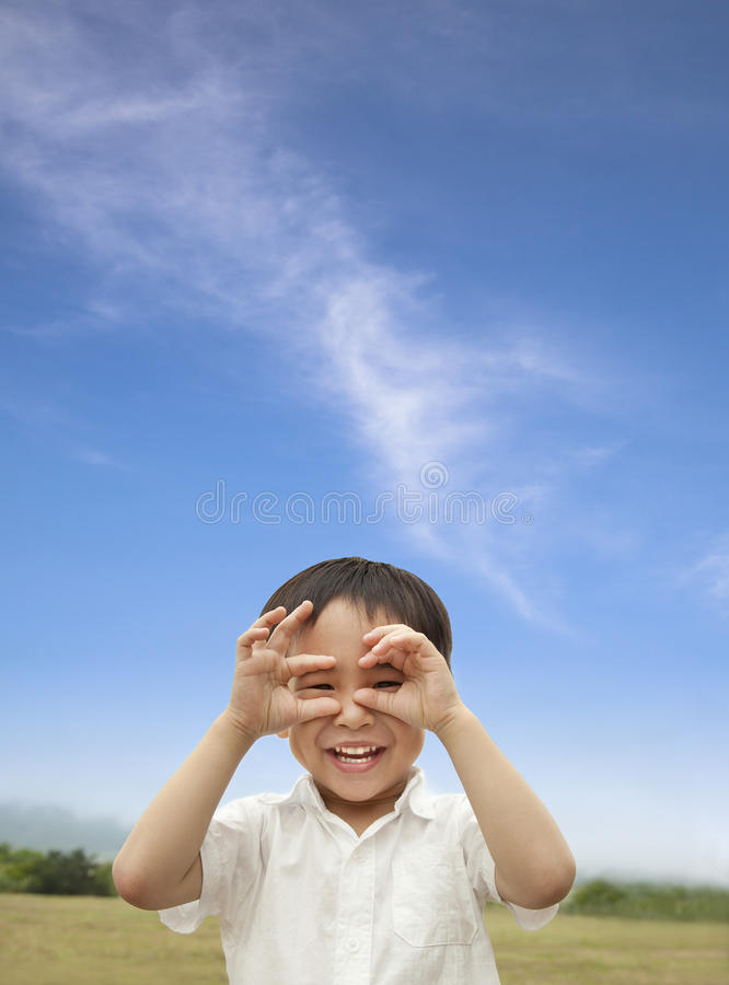 Happy asian kid. Happy asian child looking forward royalty free stock photos