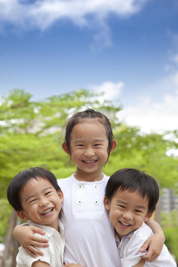 happy asian kids royalty free stock images