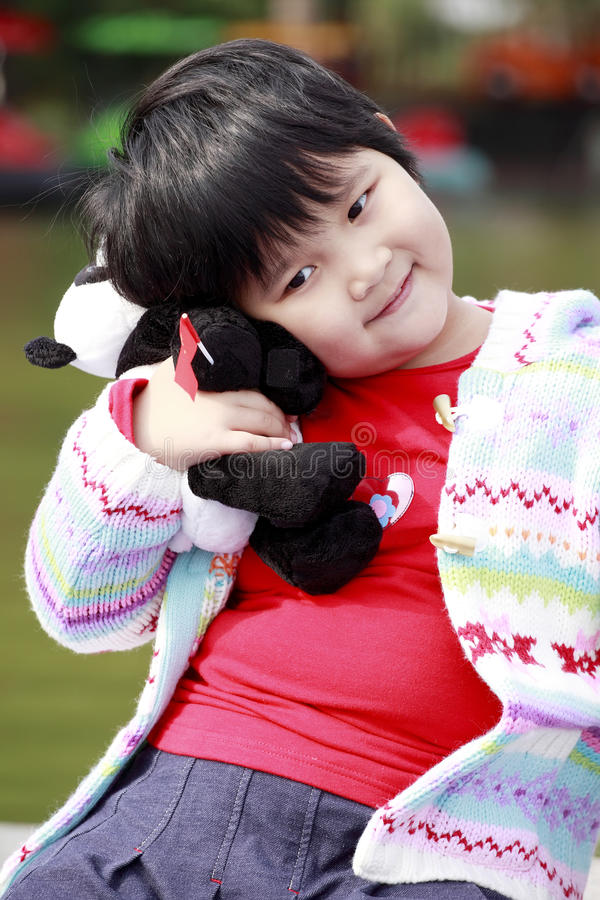 Happy Asian Little Girl Stock Photos