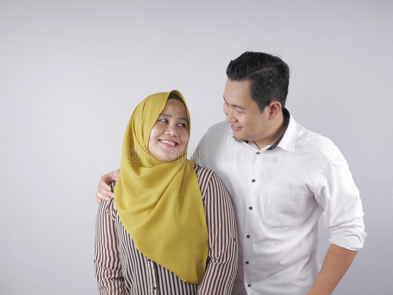Happy Asian Muslim Couple stock image