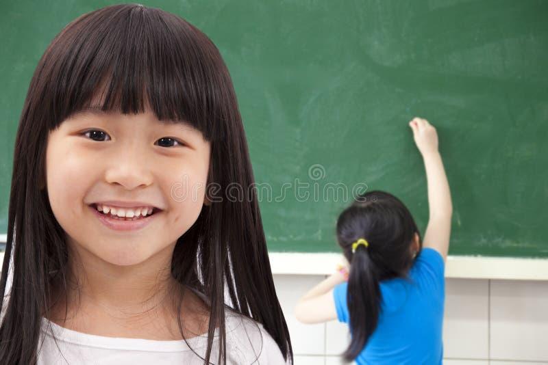 Happy asian student girls stock photo