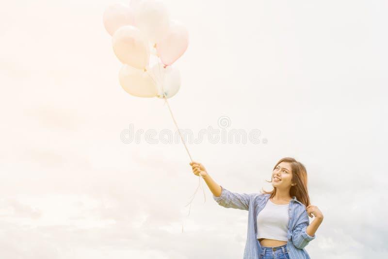Happy asin beautiful woman stock photos