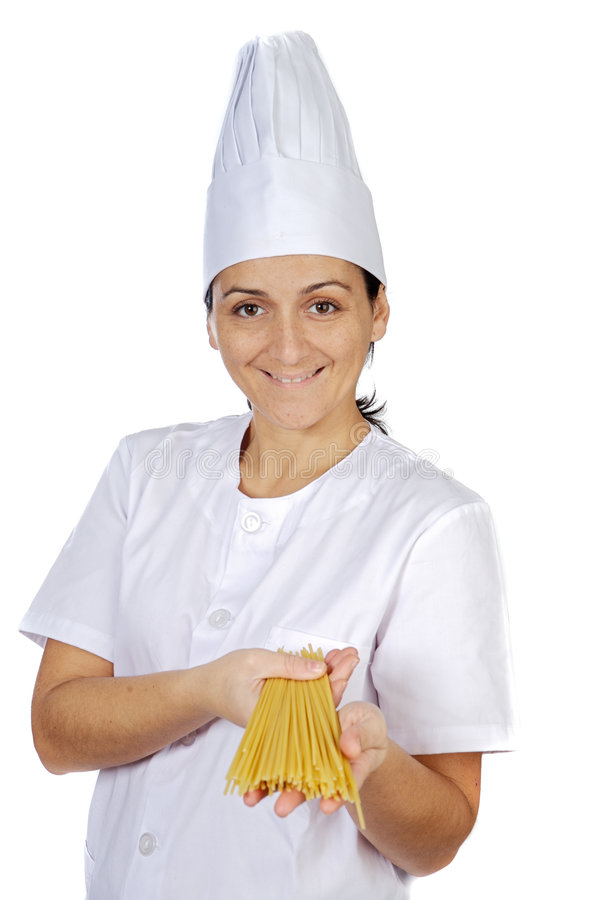 Download Happy Attractive Cook Woman Stock Photo - Image of domestic, gourmet: 1719976