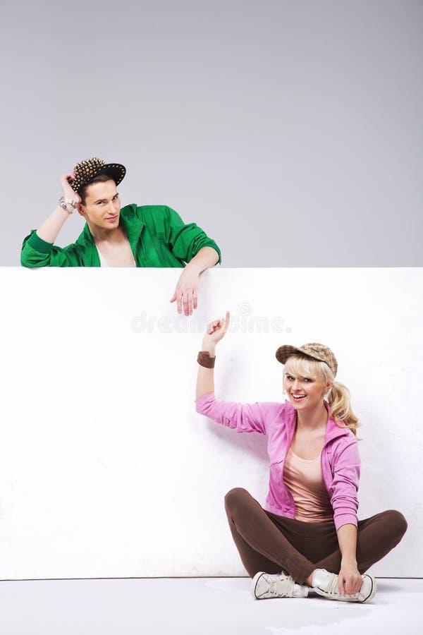 Happy teenage couple having fun royalty free stock photo