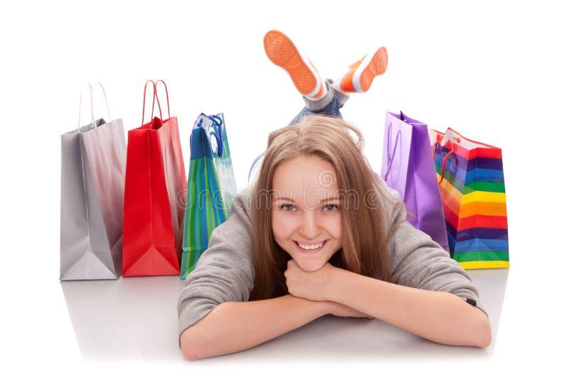 The happy customer stock photo