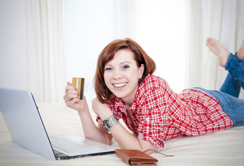 Download Happy Attractive Woman Online Shopping Royalty Free Stock Photo - Image: 37829365