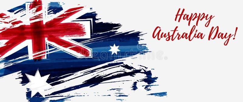 Happy Australia Day banner stock illustration