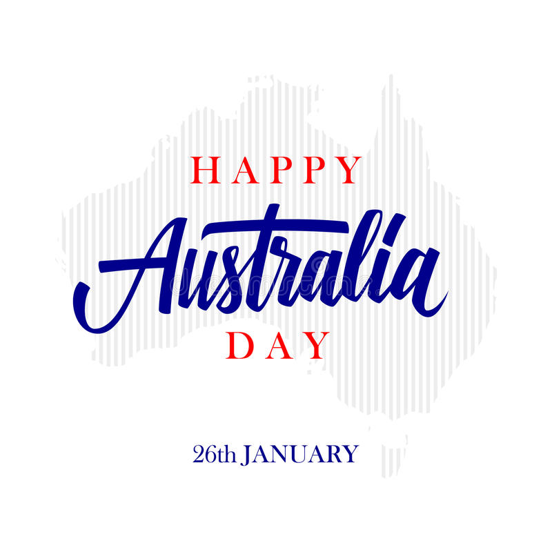 Happy australia day greeting card with calligraphic element download happy australia day greeting card with calligraphic element creative typography for holiday greetings m4hsunfo