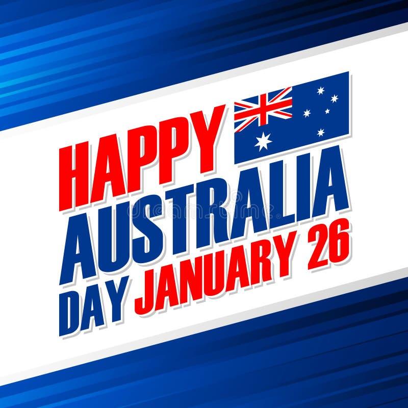 Happy Australia Day, january 26 greeting card. royalty free illustration