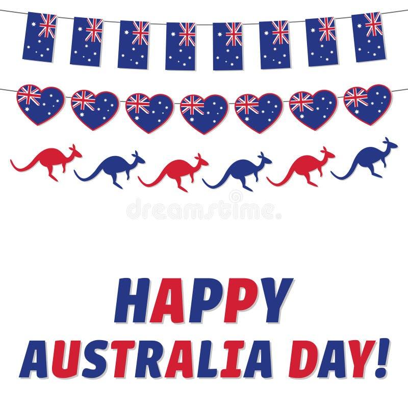 Happy Australia Day, greeting card vector illustration