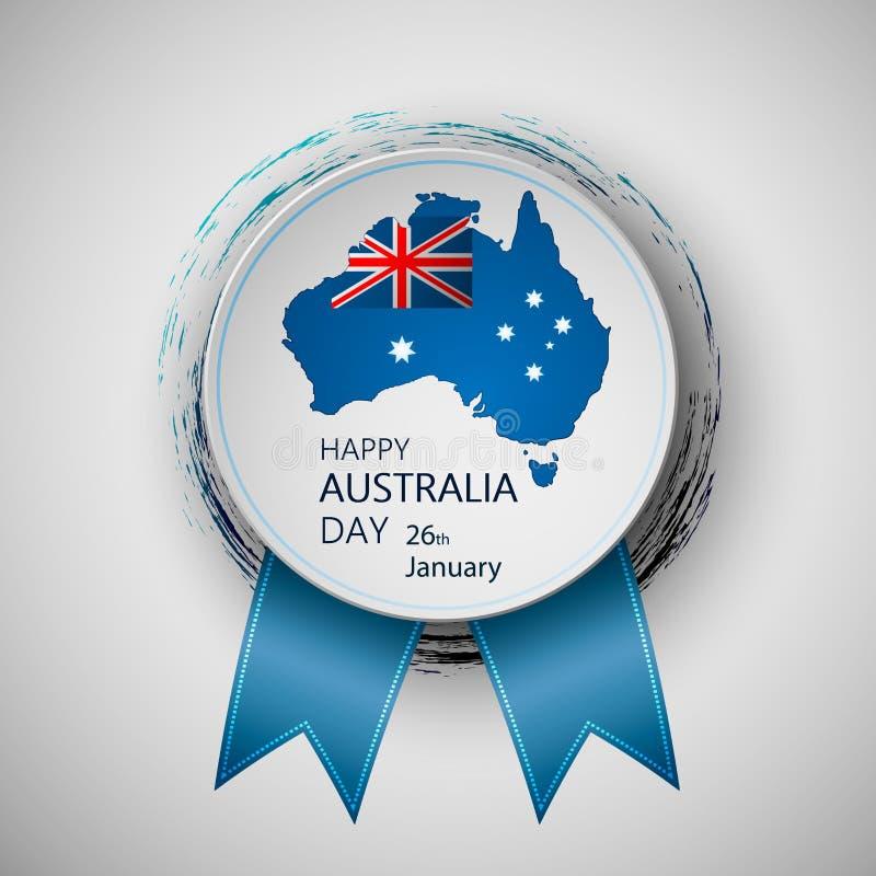Happy Australia Day. Vector illustration. Happy Australia Day vector illustration for greeting card. Eps10 stock illustration
