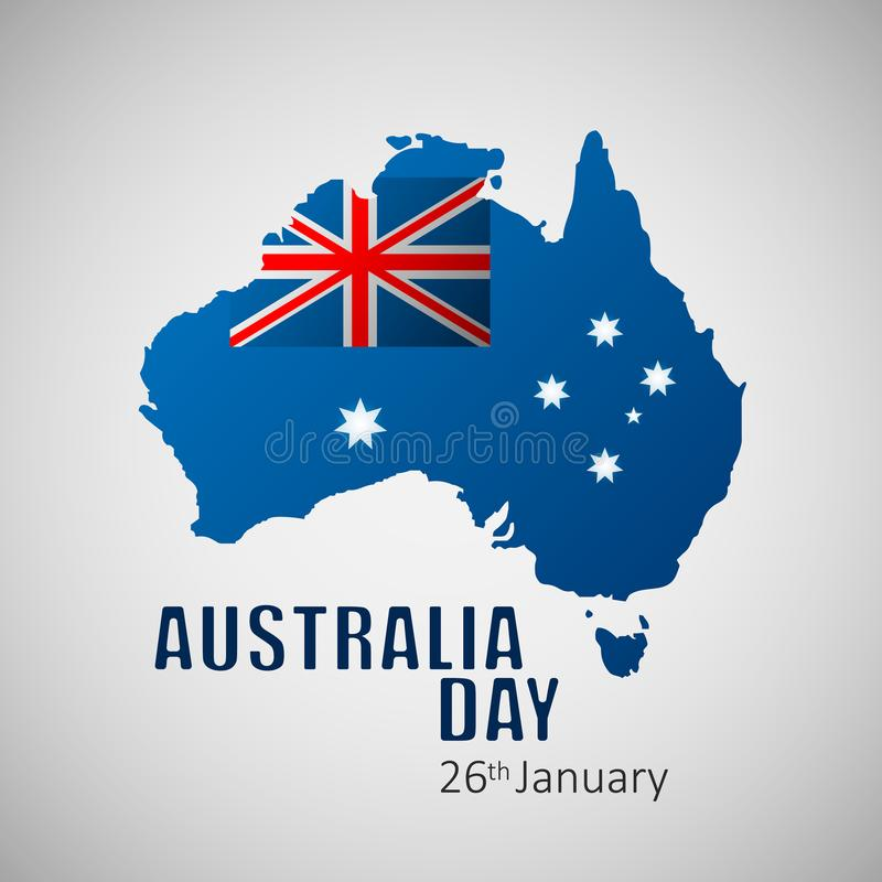 Happy Australia Day vector illustration for greeting card, poster and banner. Eps10 royalty free illustration