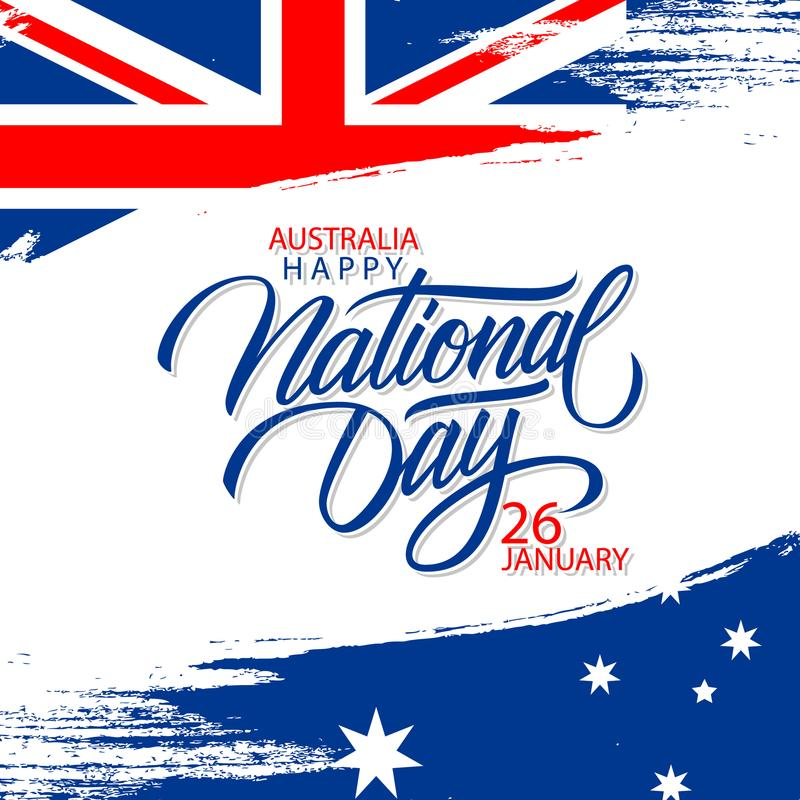 Happy australia national day january 26 greeting card with hand download happy australia national day january 26 greeting card with hand lettering holiday greetings and m4hsunfo