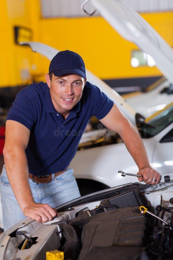 Happy auto mechanic royalty free stock photo