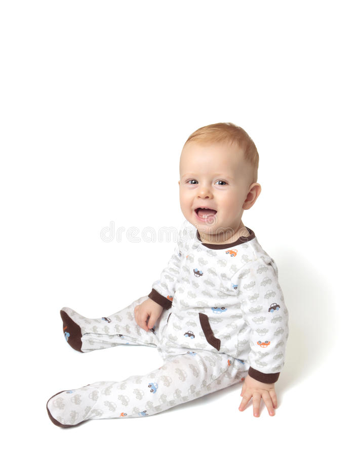 Download Happy baby boy stock image. Image of face, mouth, laughing - 12556821