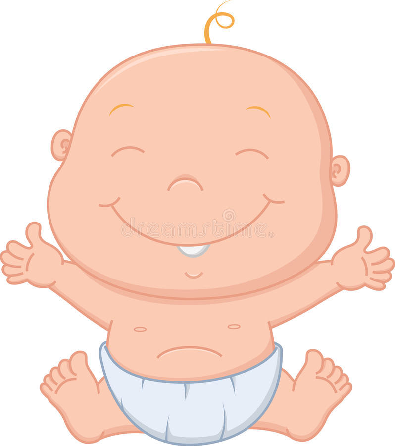Happy baby boy cartoon. Illustration of Happy baby boy cartoon vector illustration
