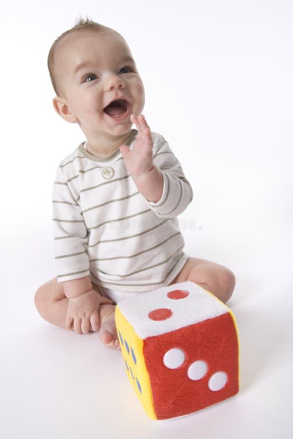 Free Happy Baby Boy Is Yelling Stock Photography - 15324042