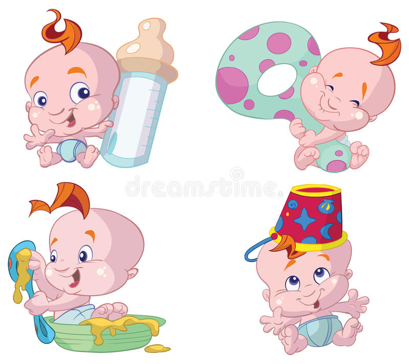Download Happy baby cartoons stock vector. Illustration of drawings - 13063358