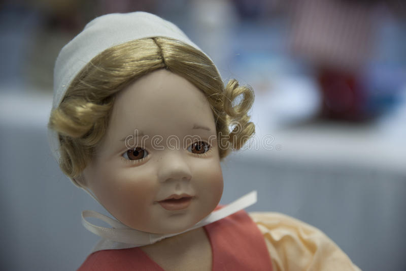 Happy Baby Doll stock photos