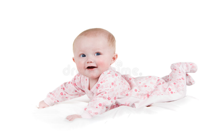 Download Happy baby girl stock photo. Image of person, hands, pajamas - 4935454
