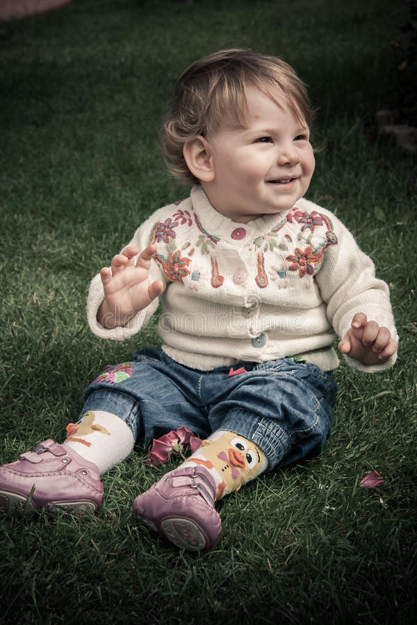 Download Happy Baby Girl Playing Royalty Free Stock Photo - Image: 29010825