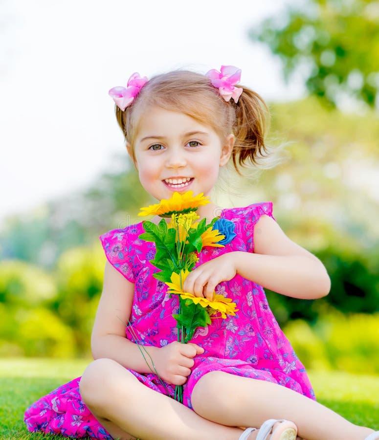 Happy baby girl stock photos