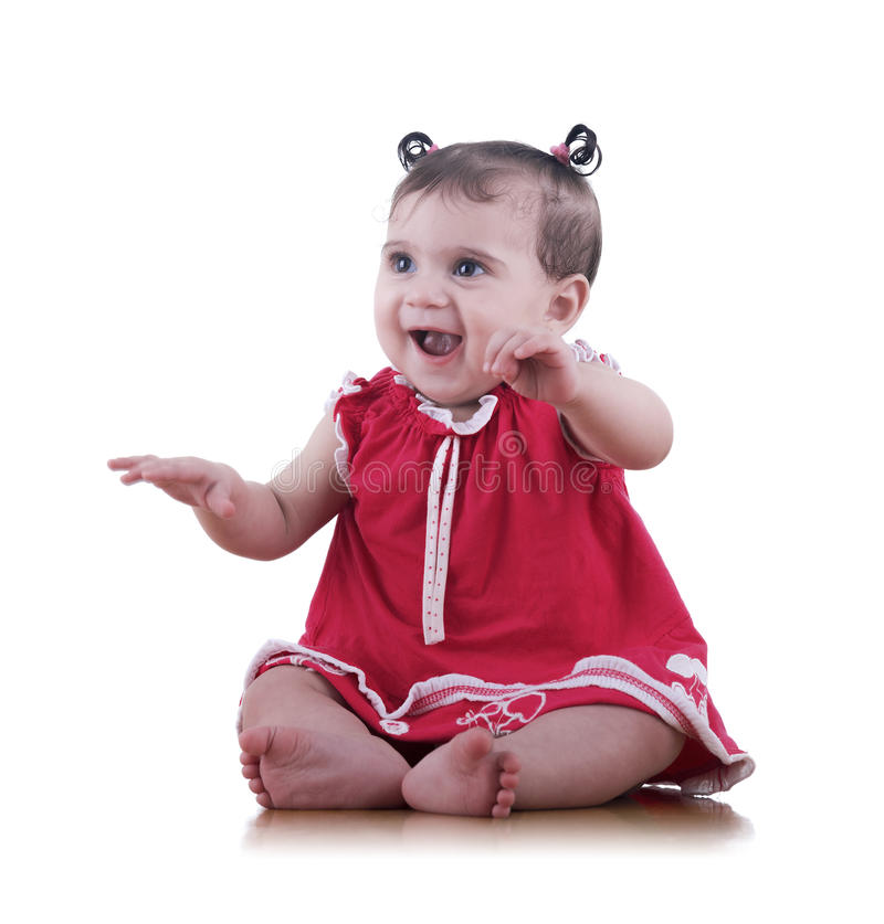 Happy Baby Girl royalty free stock photo