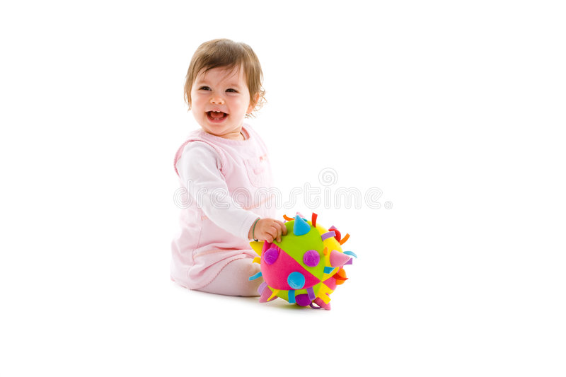 Happy baby isolated royalty free stock photography