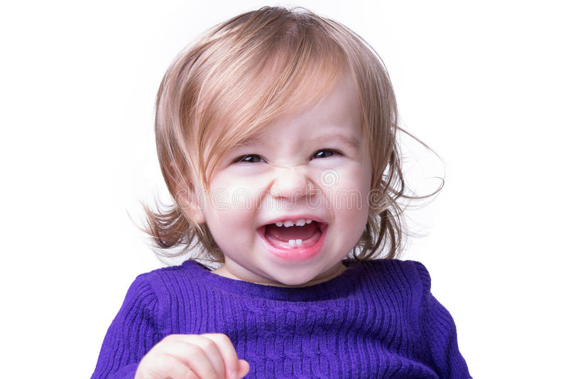 Happy Baby Laughing Freely stock photo